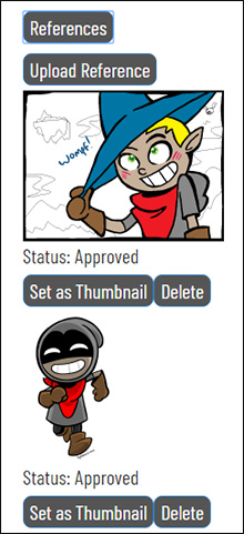 A screencap of the Bandit character as an example