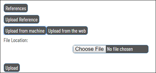 A screencap of the upload reference process